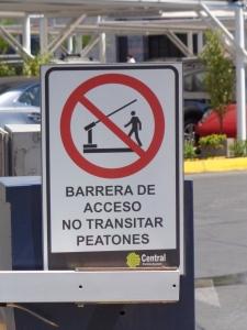 Barricade Sign