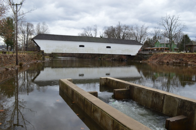 An old covered bridge