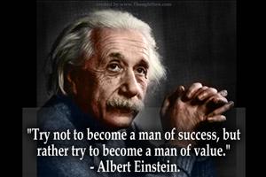 Albert Einstein qutoe on success