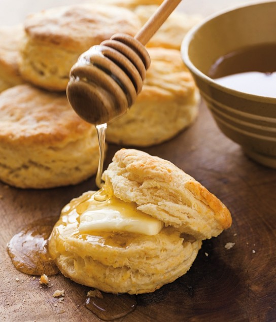 National Biscuit Day! Hot biscuits, butter and honey.  Mmmmmm